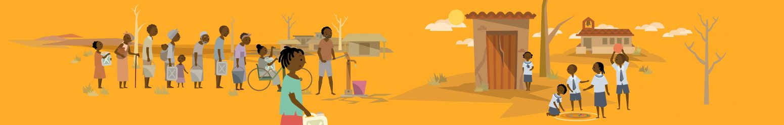 wateraid character illustration motion graphics