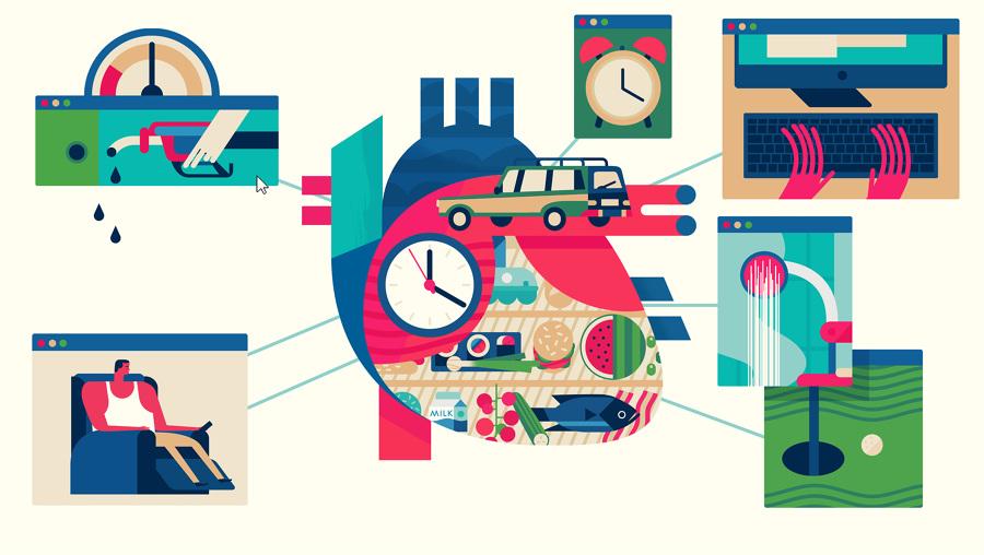 benecol tv commercial illustrations motion graphics