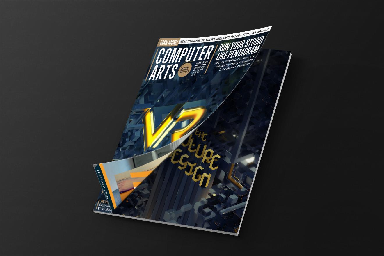 computer arts magazine cover vr