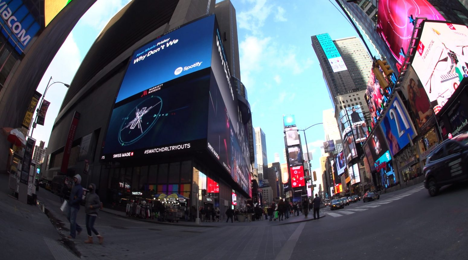 drl fpv drone racing times square