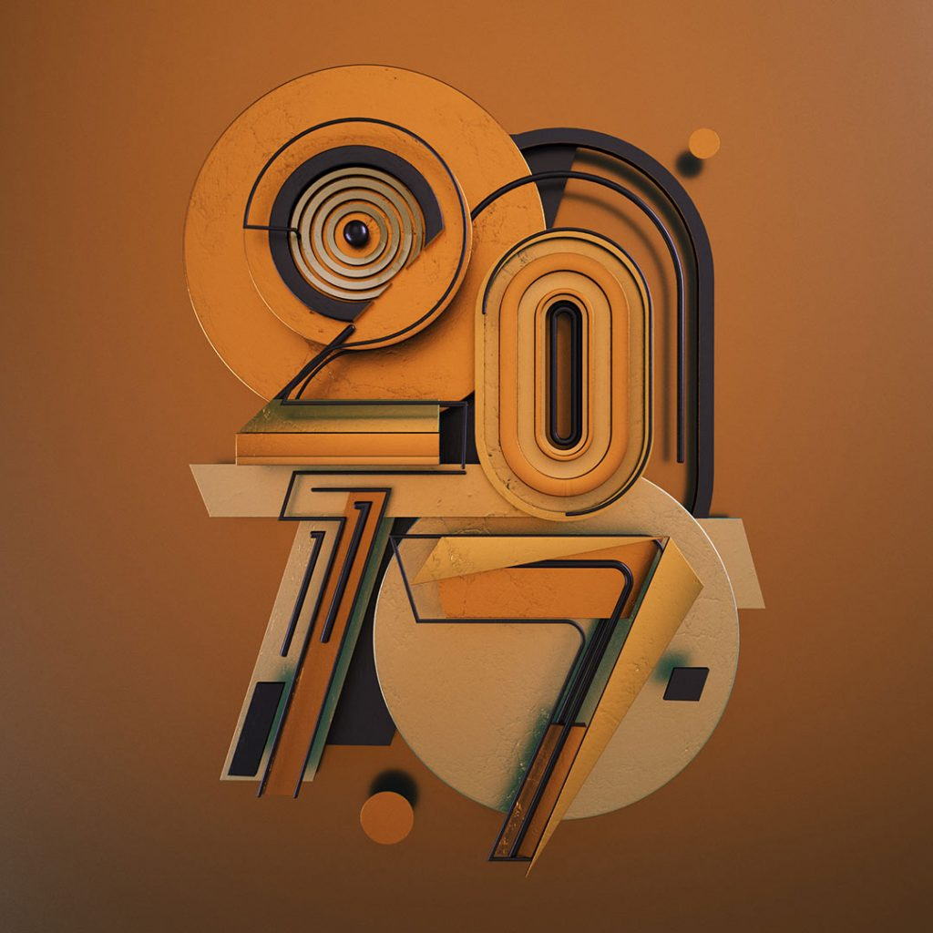 2017 typography design numbers