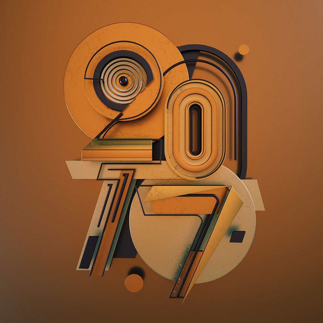 2017 typography design numbers