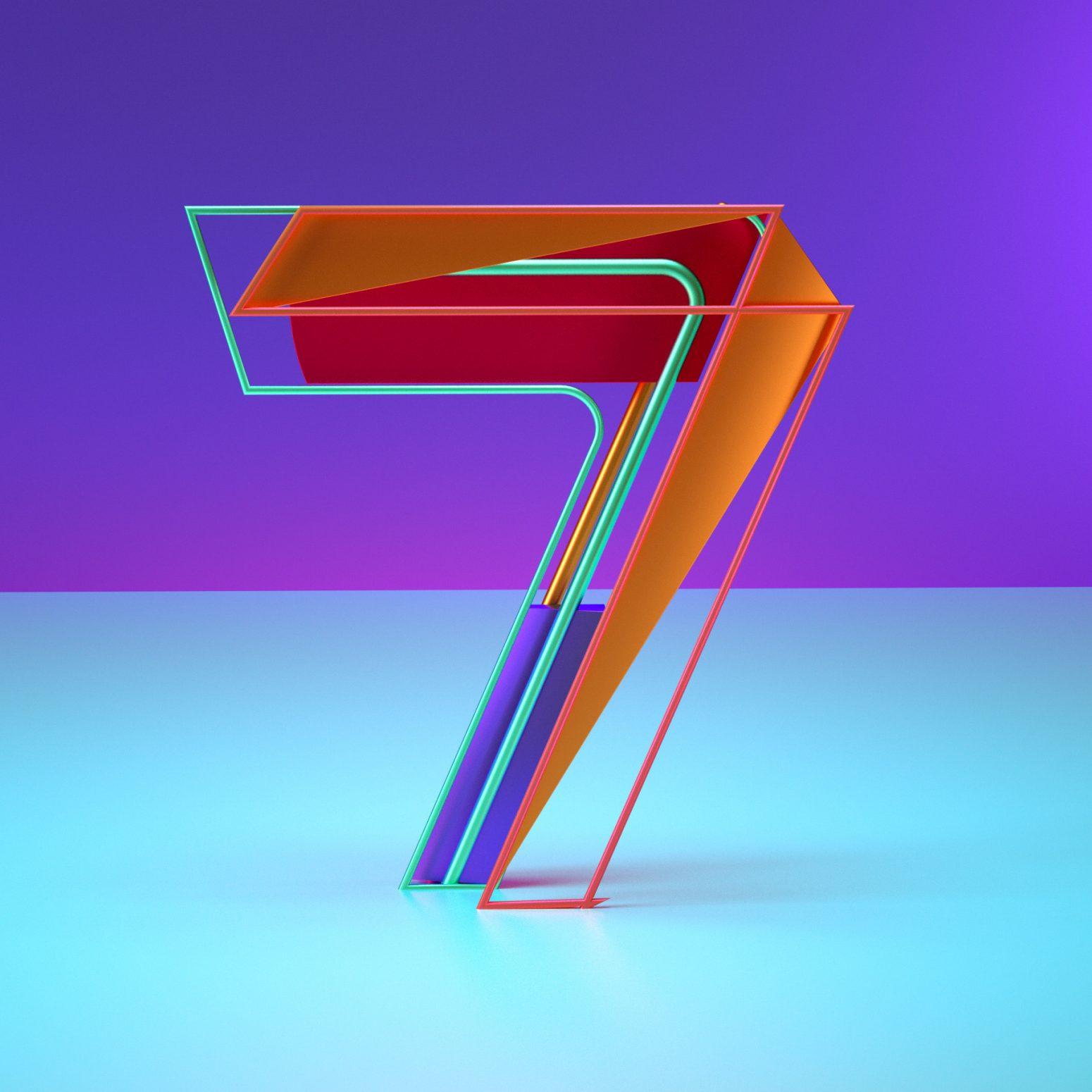 letter 7 designs