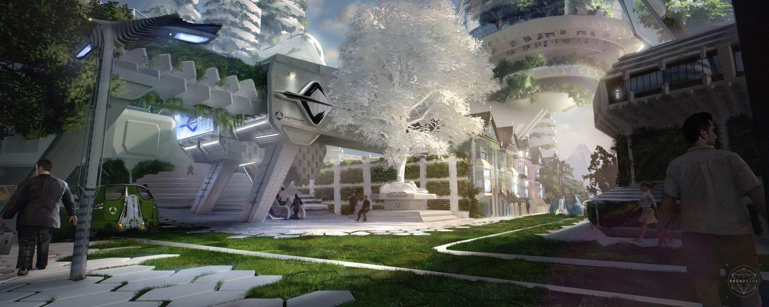 sci fi concept art dazzle ship