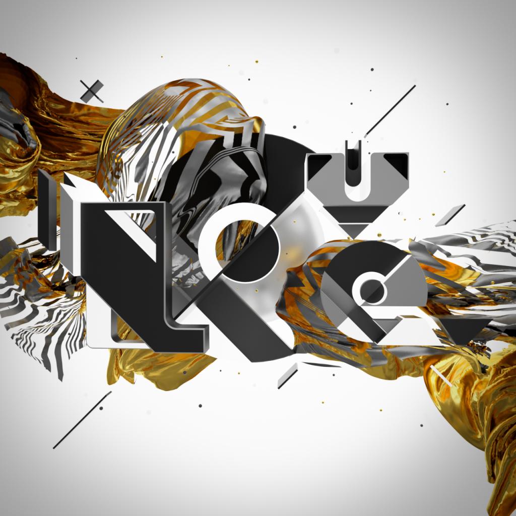 love passion typography 3d design