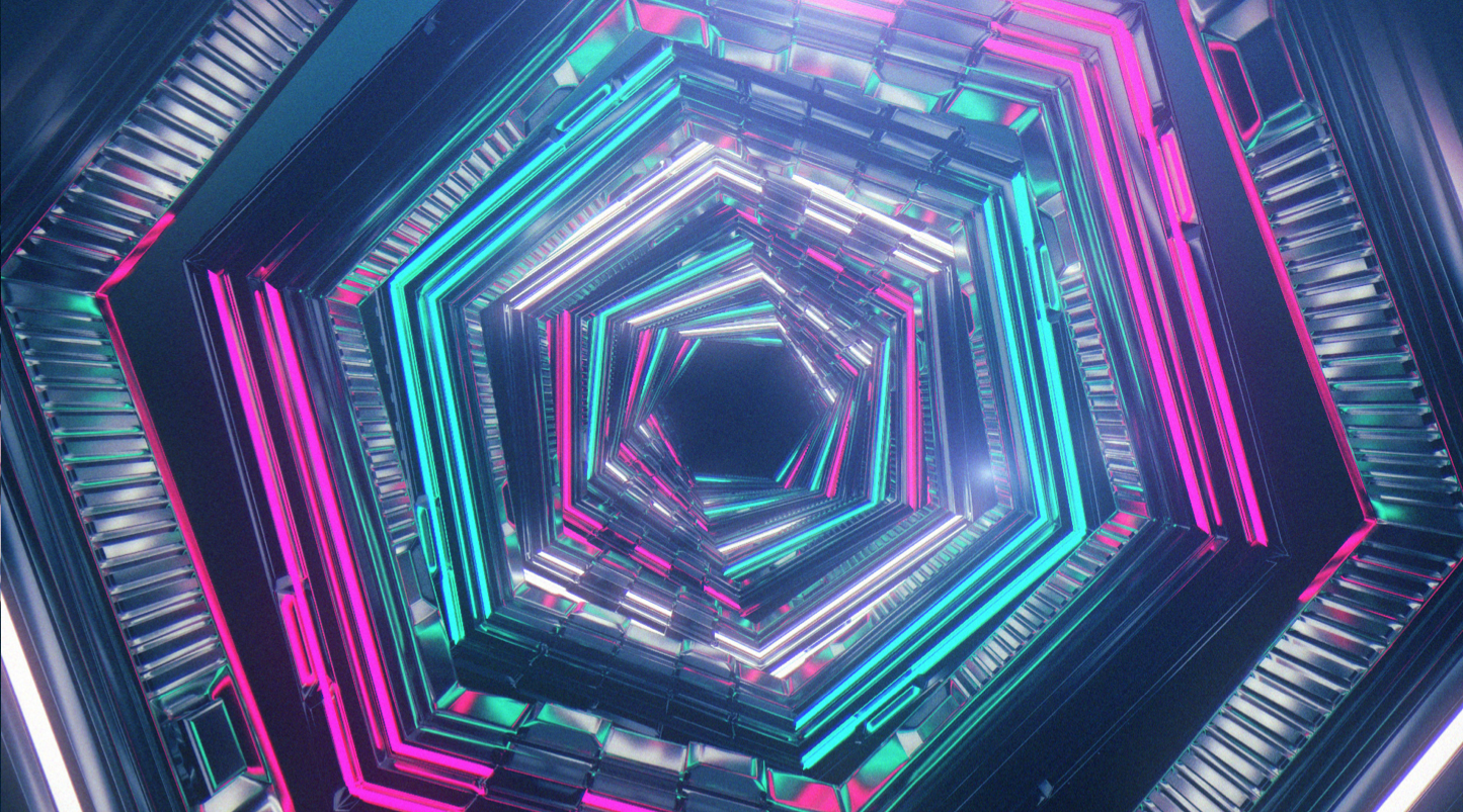 tunnel 3d graphics abstract trippy design