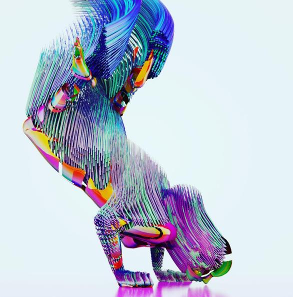 breakdancer, trippy, animation design