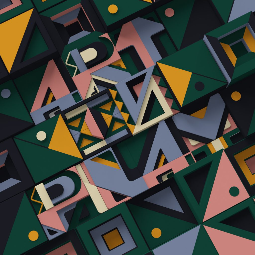 art is play trippy 3d typography