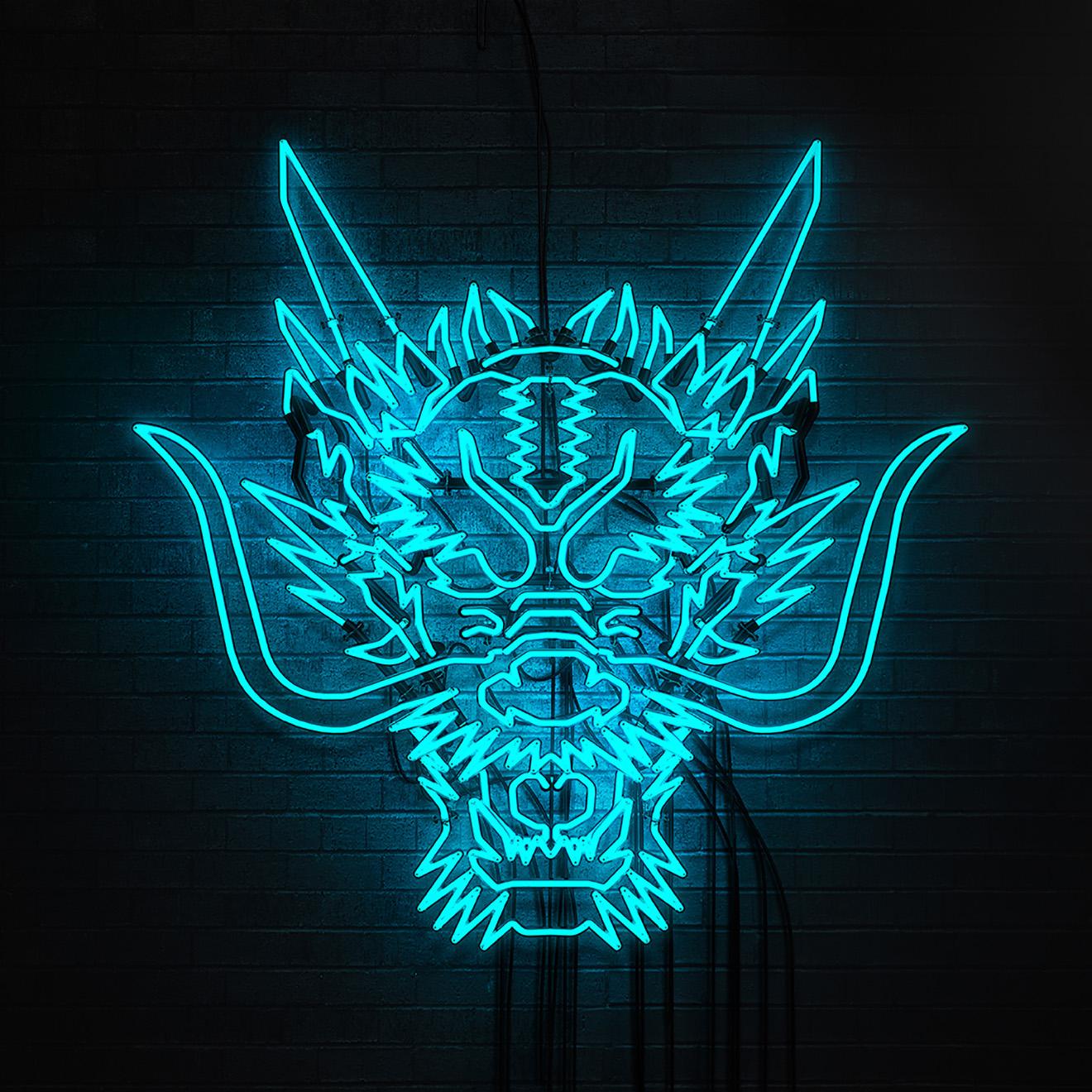 dragon 3d neon sign asics