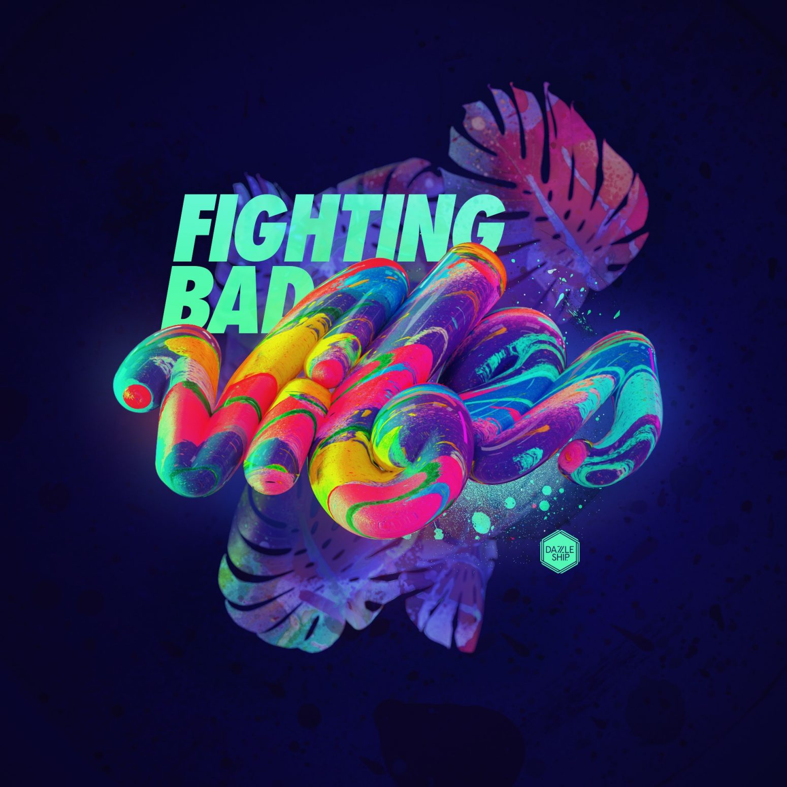 fighting bad vibes typography design