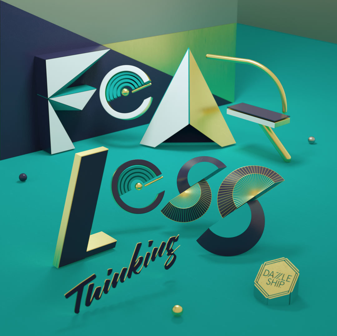 fearless typography animation design