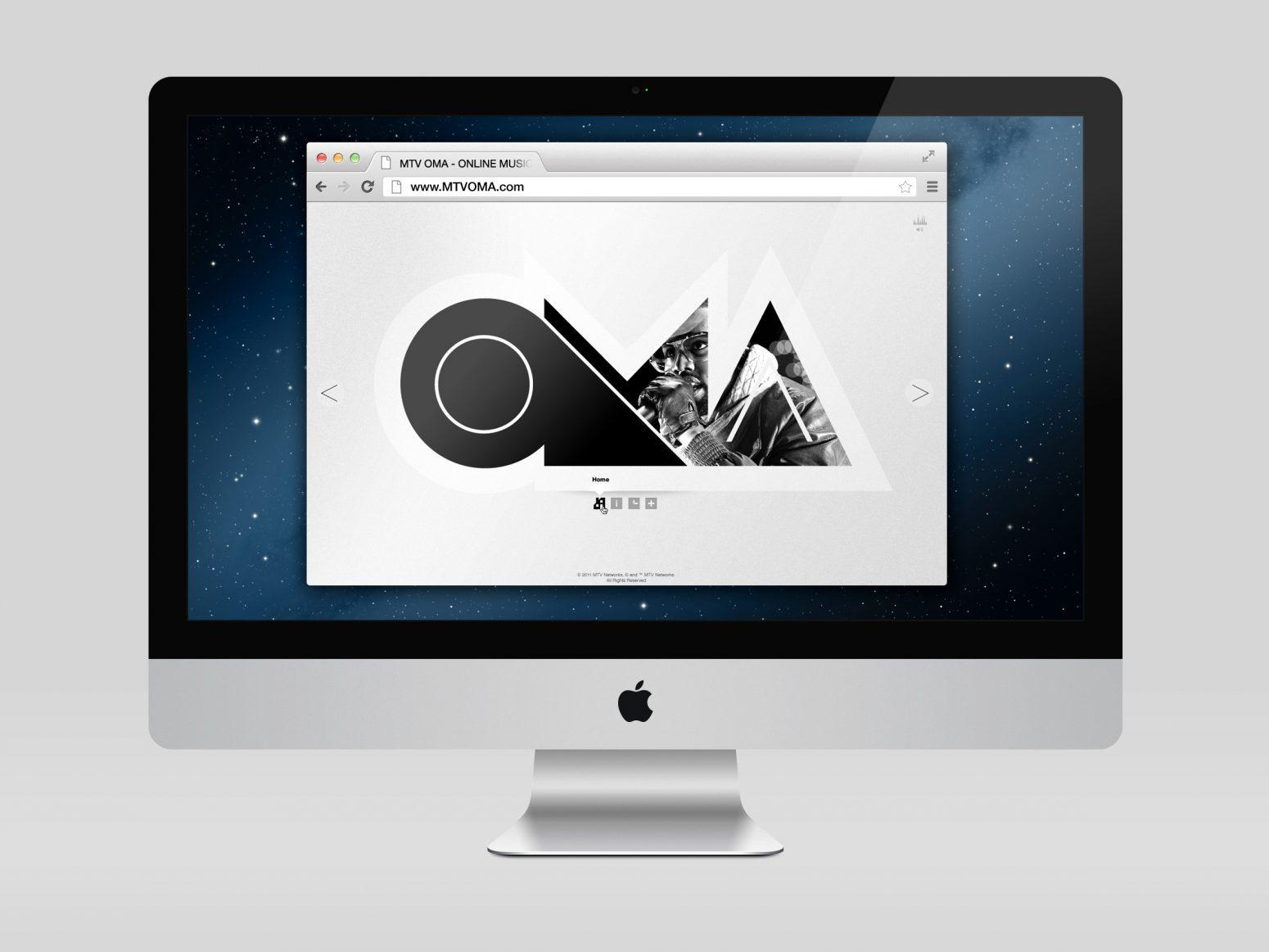 mtv oma branding design work