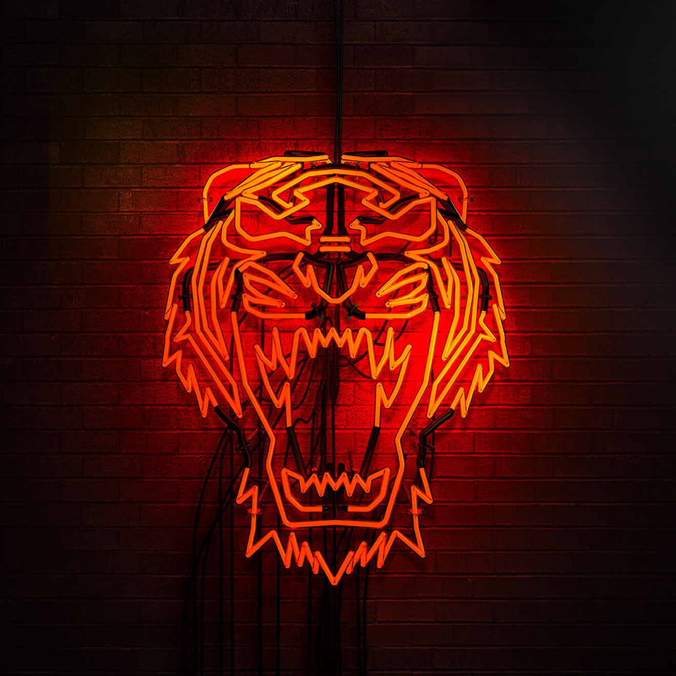 cgi tiger neon sign design asics